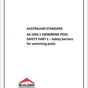AUSTRALIAN STANDARD SWIMMING POOL SAFETY PART 1