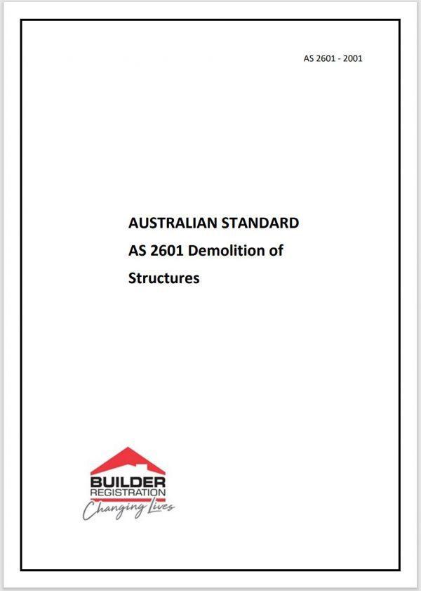 AUSTRALIAN STANDARD - DEMOLITION OF STRUCTURES